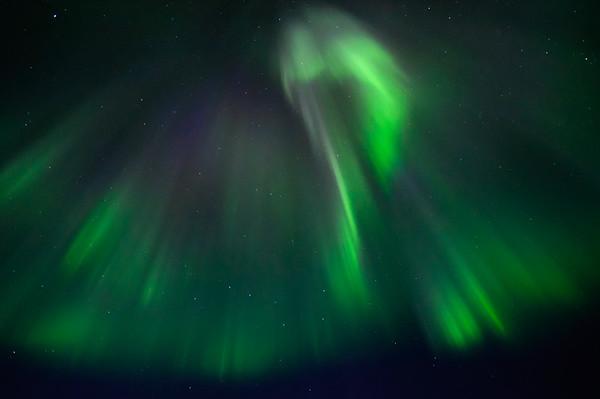 Northern lights in north of Sweden.
